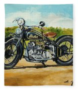 Indian Four 1933 Fleece Blanket