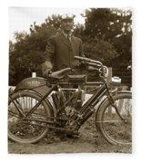 Indian Camelback Motorcycle Circa 1908 Fleece Blanket