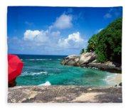 Indian Ocean Moyenne Island Seychelles Fleece Blanket