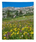 Indian Peaks Wildflower Meadow Fleece Blanket