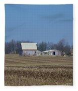 Indiana Barns Fleece Blanket
