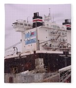 Indiana Harbor 1  Fleece Blanket