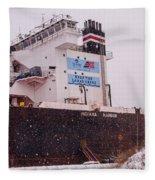 Indiana Harbor 2  Fleece Blanket