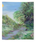 Indiana Spring Afternoon By The Creek Fleece Blanket