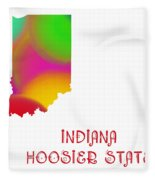 Indiana State Map Collection 2 Fleece Blanket
