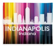 Indianapolis In 2 Fleece Blanket