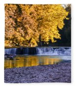 Indianhead Dam - Perkiomen Creek Fleece Blanket