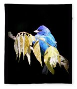 Indigo Bunting - Img 423-008 Fleece Blanket