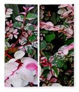 Indigo Plant In Stereo Fleece Blanket