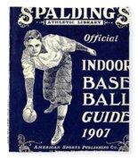 Indoor Base Ball Guide 1907 Fleece Blanket