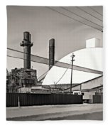 Industrial Art 2 Sepia Fleece Blanket