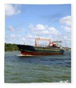 Industrial Cargo Ship Fleece Blanket