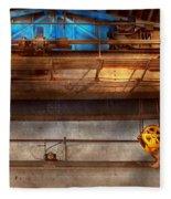 Industrial - The Gantry Crane Fleece Blanket