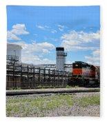 Industrial Train Fleece Blanket