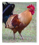 Infamous Kauai Chicken Fleece Blanket