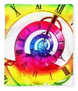 Infinite Time Rainbow 3 Fleece Blanket
