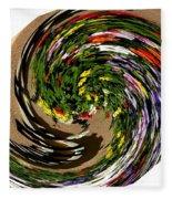 Infinity Flower Spiral 1 Fleece Blanket