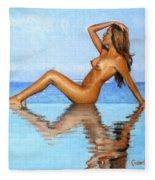 Infinity Pool Nude Fleece Blanket