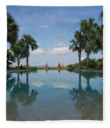 Infinity Pool Of Aureum Palace Hotel Fleece Blanket