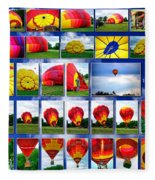 Inflation Hot Air Balloon Fleece Blanket
