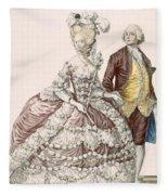 Informal Wedding Dress, Engraved Fleece Blanket