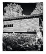 Infrared Covered Bridge Fleece Blanket