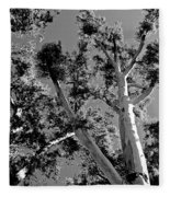 Infrared Tree Fleece Blanket