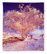 Infrared Tree Fleece Blanket