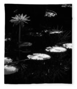 Infrared - Water Lily And Lily Pads Fleece Blanket
