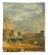 Ingleborough From Chapel-le-dale Fleece Blanket