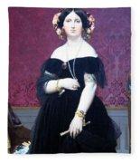 Ingres' Madame Moitessier Fleece Blanket