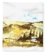 Ink Landscape Fleece Blanket