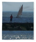 Inlet At West Cape May Nj Fleece Blanket