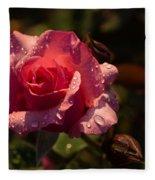Inner Glow In Pink Fleece Blanket