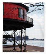 Inner Harbor Lighthouse - Baltimore Fleece Blanket