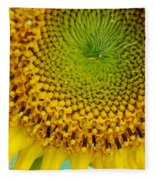 Inner Peace Forms Within This Sweet Yellow Sunflower Fleece Blanket