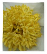 Inner Section Of A White Peony Fleece Blanket