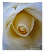 Innocence White Rose 5 Fleece Blanket
