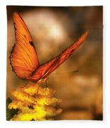 Insect - Butterfly - Just A Bit Of Orange  Fleece Blanket