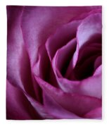 Inside A Rose Fleece Blanket