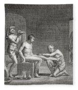 Inside An Egyptian Bathhouse, C.1820s Fleece Blanket