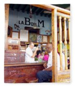 Inside La Bodeguita Del Medio Fleece Blanket