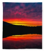 Inside Passage Sunrise Fleece Blanket