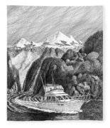 Cruising The Inside Passage Fleece Blanket