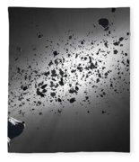 Inside The Asteroid Belt Against The Sun Fleece Blanket