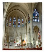 Inside The Cathedral Basilica Of The Immaculate Conception 1 Fleece Blanket