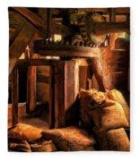 Inside The Old Mill Fleece Blanket