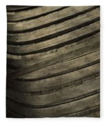 Inside The Wooden Canoe Fleece Blanket