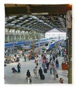 Inside Train Station, Nice, France Fleece Blanket