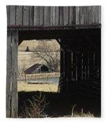 Barn - Kentucky - Inside Treasure Fleece Blanket